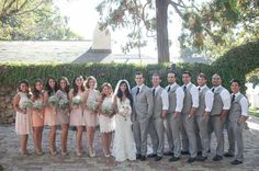 Our bridesmaids and flower girls were given two criteria when searching for their attire: 1) choose a dress that they absolutely loved and would wear again, and 2) choose a color in the blush-tone, neutral color family. It couldn't have been more perfect! Our groomsmen wore gray vests and slacks, paired with a crisp white shirt. We loved how everything came together to create a unique, mismatched collection of textures and colors.