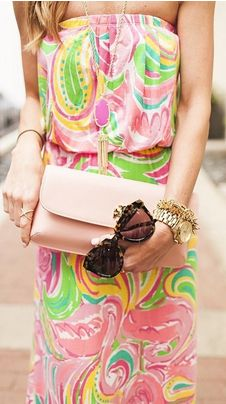 Lilly Pulitzer Marlissa Strapless Maxi Dress in All Nighter styled by @alysonhaley