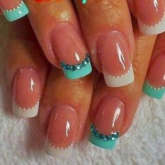 cute french nail art designs 2015