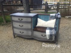 Reimajine Painted Furniture Massachusetts | FURNITURE Dresser to seating