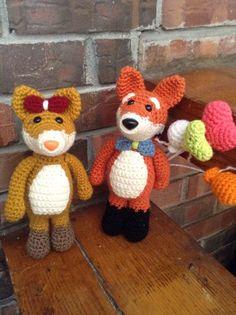 #crochet, free pattern, amigurumi fox, love couple, stuffed toy, #haken, gratis patroon (Engels), vos meisje en jongen, knuffel, speelgoed, #haakpatroon
