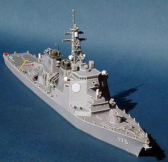 PAPERMAU: Maritime Self-Defense Force Aegis Destroyer Kongo Paper Modelby Paper Model Studio
