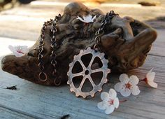 Gear Pendant in Copper by DreamingDragonDesign.deviantart.com on @deviantART