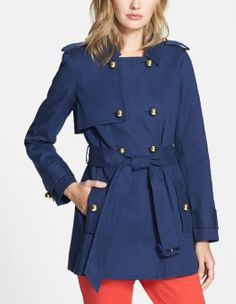 kate spade new york navy trench coat