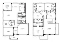 5 bedroom designed by Fairhaven Homes Australia. I could cope with this.