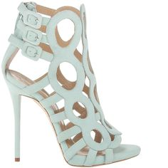 Giuseppe Zanotti Resort 2014 Circle Cut-Out Suede Sandals - Buy Online - Designer Sandals