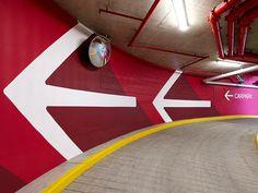 Barangaroo, Sydney, carpark, Wayfinding, environmental branding, signage
