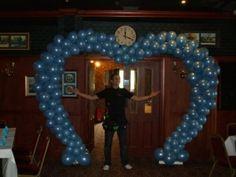 Azure blue heart arch