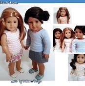 Latte Sweater & Skirt Pattern AG Dolls - via @Craftsy