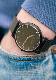 Black on black Shore Projects watch
