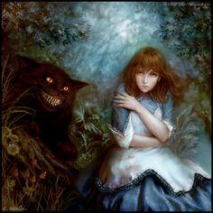 Art Work of Alice in Wonderland   <3