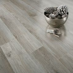 Nice. Gloss Grey Oak. images of laminate flooring | Series Inspire 8mm Gloss Grey Oak Laminate Flooring - Laminate range
