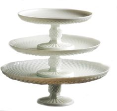 Palais Glassware Elegent 3 in 1 Cupcake or Cake Stand - Mix and Match Use As a One Tier, Two Tier or Three Tier or As 3 Separate Cake Stands - 10' High X 12' Diameter (White Diamond Design) -- Read more reviews of the product by visiting the link on the image.