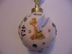 Disney Tinkerbell - Personalized Handmade Young Girl Birthday Gift Porcelain Tree Ornament Keepsake