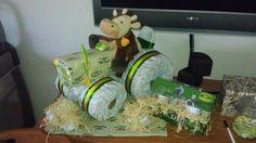 tractor+diaper+cake | John Deere Tractor Diaper Cake