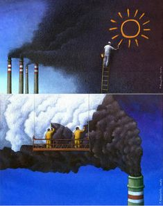 Pawel Kuczynski creates amazing illustrations that cleverly highlight life's realities in a way that is quite unique. He brings out the good, the bad, and the Satire, Satirical Illustrations, Social Art, Political Art, Air Pollution, Amazing Art, Religion, Images, Illustration Art