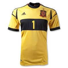 dc0405af0cc3 Official Spain Goalkeeper Jersey 2008 Official Adidas Apparel 2008 Euro Cup  Jersey Free Fedex Shipping 90 Day Return Policy Available in Adult XL only  ...