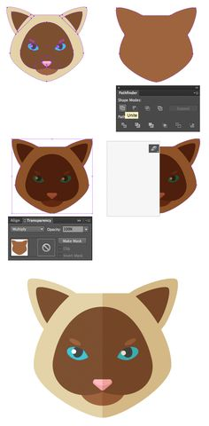 AI - Create a Set of Flat Animal Vector Icons in Adobe Illustrator