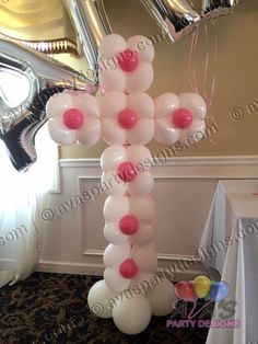 Cherish Cross Balloon, great for Baptism, Holy Communion, Christening or Religious Celebration. #partywithballoons