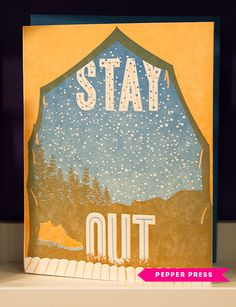 This would make a great thank you note for summer vacation hosts