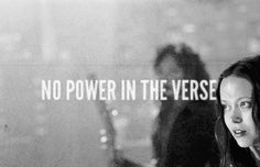 No power in the verse.