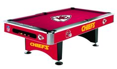 Kansas City Chiefs Licensed Billiards Table with Team Logo Cloth from Imperial International