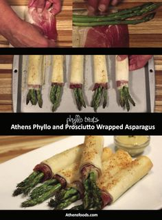Phyllo and Prosciutto Wrapped Asparagus