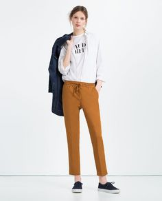 ZARA - WOMAN - PLEATED CROPPED TROUSERS