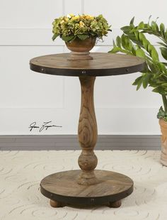 Cumber Wood Round Table - Accent Side Tables - Living & Family Room - Furniture