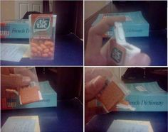 """The discovery that Tic Tac boxes come with special Tic Tac-holders. 