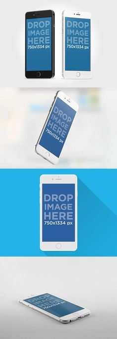 TweetSumoMe Set your new app on these iPhone 6 mockups back to back. There are 4 different free PSD mockups where you can easily replace your app design and showcase your mobile designs in a