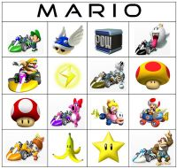 Printable mario kart bingo game - Mario Kart Wii Party Games