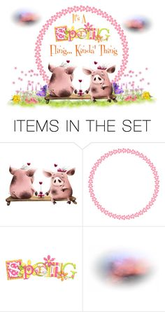 """""""It's A Spring Fling...Kinda Thing...A Time To Love!!"""" by carla-altum ❤ liked on Polyvore featuring art"""