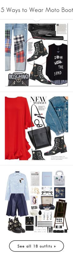 """""""15 Ways to Wear Moto Boots"""" by polyvore-editorial ❤ liked on Polyvore featuring motoboots, waystowear, MANGO, Melissa McCarthy Seven7, Boohoo, Alexander McQueen, Moschino, Maison Margiela, plus size clothing and Balenciaga"""