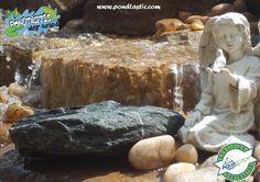 Waterfall created by Pondtastic Water Gardens in Orlando, FL. #WaterfallWednesday
