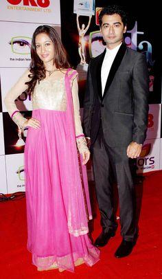 Harshad Arora and Preetika Rao at the 14th Indian Television Academy Awards 2014. #Bollywood #Fashion #Style #Beauty
