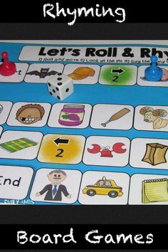 I love that Rhyming Board Games are an engaging way for kids to practice their phonological awareness skills, with out even knowing it. Games can be especially helpful for struggling readers. I even found older kids really like them, too. 5th Grade Activities, Kindergarten Activities, Rhyming Activities, Hands On Activities, Music Education, Physical Education, Special Education, Smart Board Lessons, Elementary Music