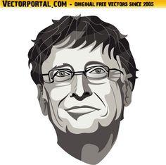 Bill Gates Portrait Vector Image by Vectorportal.deviantart.com on @DeviantArt