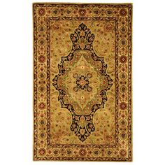 Persian Legend Soft Green and Ivory Rectangular: 6 Ft. x 9 Ft. Rug Rug - (In Rectangular)