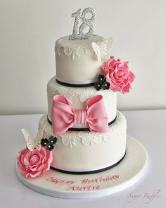 Wonderful Photo Of Birthday Cakes For Girl 12 Eighteenth Party Elegant