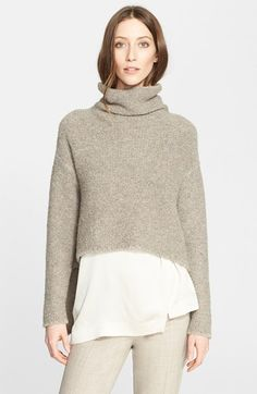 Fabiana Filippi Bouclé Knit High/Low Sweater available at #Nordstrom
