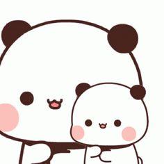 Panda Gif, Animated Gif, Hello Kitty, Bear Gif, Chibi Cat, Cartoons, Animation, Sugar, Stickers