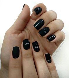 blacknails naildesign simple design black ideas nail art 20 20 Simple Black Nail Art Design Ideas 20 Simple Black Nail Art Design IdeasYou can find Black nails and more on our website Black Nail Designs, Short Nail Designs, Acrylic Nail Designs, Nail Art Designs, Cute Acrylic Nails, Matte Nails, Gel Nails, Stylish Nails, Trendy Nails
