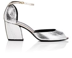 PIERRE HARDY Calamity Metallic-Leather Ankle-Strap Sandals. #pierrehardy #shoes #sandals