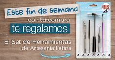 ¿Aún no te has enterado? Este fin de semana te regalamos el Set de Herramientas de Artesanía Latina. Para todas las compras realizadas el viernes, sábado y domingo. // Haven't you heard? This weekend with every purchase on our online store, you will get the Artesanía Latina's Tool Set for FREE!