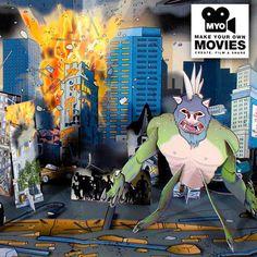 Estudio de cine Haz tu propia película de Monstruos | Tecniac
