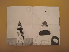 """""""pencil drawings selection"""" zine / inside by Irana Douer"""