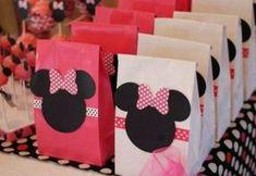 embrulhos como lembrancinhas da Minnie rosa