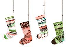 Xmas Stockings christmas card