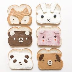 Cute Snacks, Cute Desserts, Cute Food, Disney Desserts, Tasty Snacks, Delicious Food, School Lunch Sandwiches, Sandwiches For Lunch, Food Art For Kids